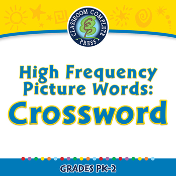 High Frequency Picture Words: Crossword - NOTEBOOK Gr. PK-2