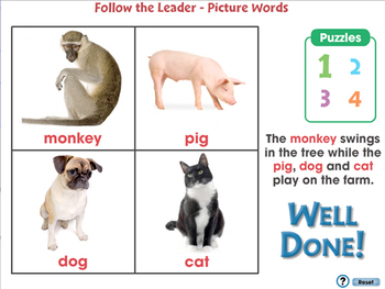High Frequency Picture Words: Follow the Leader - Picture Words - MAC Gr. PK-2