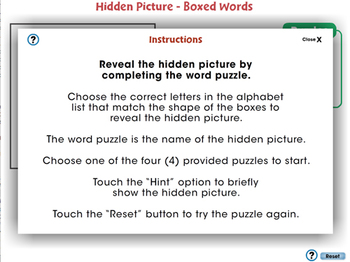 High Frequency Picture Words: Hidden Picture - Boxed Words - NOTEBOOK Gr. 5-8