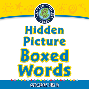 High Frequency Picture Words: Hidden Picture - Boxed Words - PC Gr. 5-8