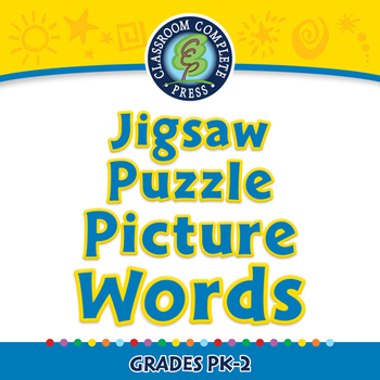High Frequency Picture Words: Jigsaw Puzzle - Picture Words - NOTEBOOK Gr. PK-2