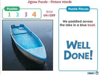 High Frequency Picture Words: Jigsaw Puzzle - Picture Words - PC Gr. PK-2