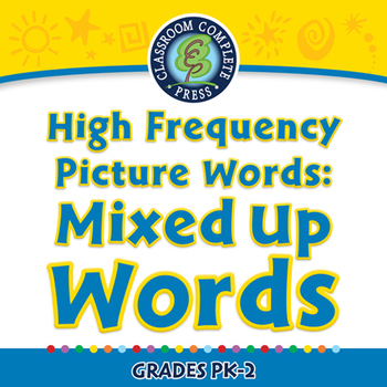 High Frequency Picture Words: Mixed Up Words - NOTEBOOK Gr. PK-2