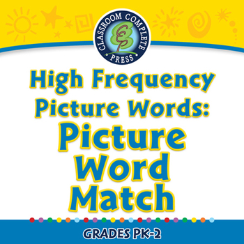 High Frequency Picture Words: Picture Word Match - NOTEBOO