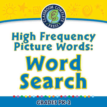 High Frequency Picture Words: Word Search - NOTEBOOK Gr. PK-2