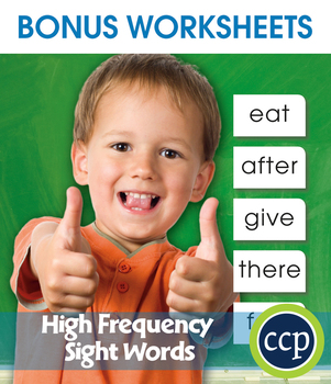 High Frequency SIGHT WORDS Gr. PK-2 - BONUS WORKSHEETS