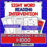 Sight Word Reading Intervention: Assessment & Word Rings-F