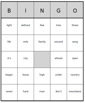 High Frequency Sight Word Bingo! | Words 201-300 | (1,000 Different Boards)