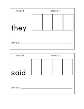 High Frequency Sight Word Book