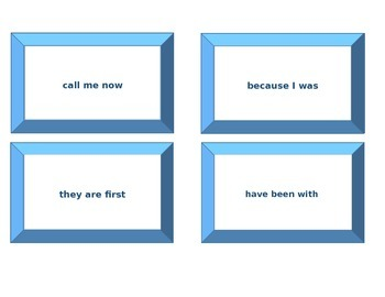 High Frequency  Sight Word Phrase Cards and Checklists