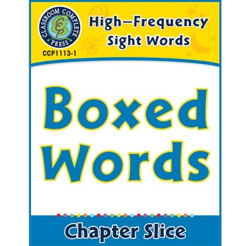 High-Frequency Sight Words: Boxed Words
