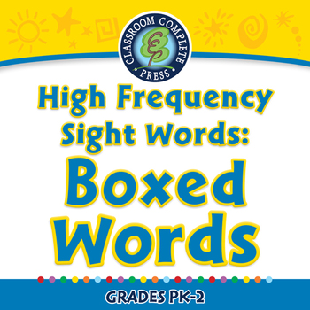 High Frequency Sight Words: Boxed Words - MAC Gr. PK-2