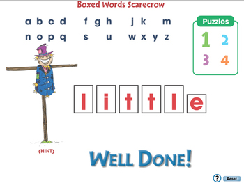 High Frequency Sight Words: Boxed Words - PC Gr. PK-2