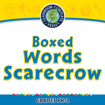 High Frequency Sight Words: Boxed Words Scarecrow - PC Gr. PK-2