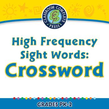 High Frequency Sight Words: Crossword - NOTEBOOK Gr. PK-2