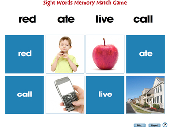 High Frequency Sight Words: Crossword - PC Gr. PK-2