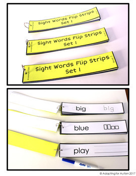 Sight Words Work Task for Special Education and Autism