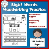 Differentiated Writing  and Sight Word Activities for Hand