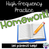 High-Frequency, Sight Words Homework Practice K-5 Word Lists!