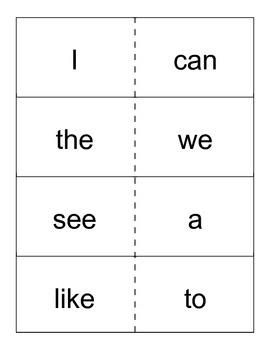 Kindergarten Wonders High Frequency Sight Words