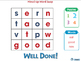 High Frequency Sight Words: Mixed Up Word Swap - NOTEBOOK Gr. PK-2