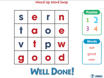 High Frequency Sight Words: Mixed Up Word Swap - PC Gr. PK-2
