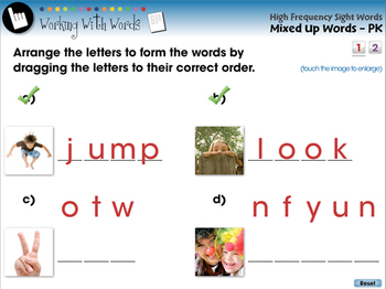 High Frequency Sight Words: Mixed Up Words - PC Gr. PK-2