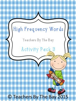 High Frequency / Sight Words Activity Pack 3