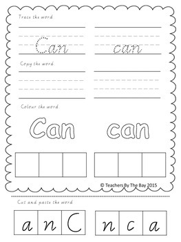 High Frequency / Sight Words Activity Pack 4
