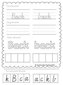 High Frequency / Sight Words Activity Pack 5