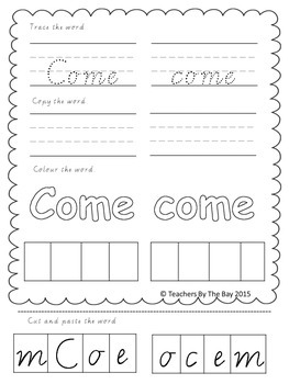 High Frequency / Sight Words Activity Pack 6