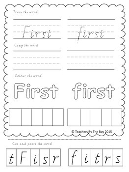 High Frequency / Sight Words Activity Pack 7