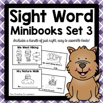 High Frequency / Sight Words- Read and Write Printable Minibooks Set 3