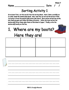 High Frequency Sight Words Set B:  Weeks 7-11