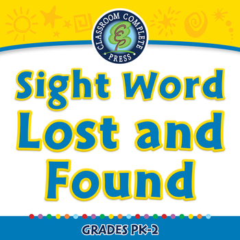 High Frequency Sight Words: Sight Word Lost and Found - NOTEBOOK Gr. PK-2