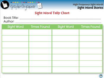 High Frequency Sight Words: Sight Word Stories - NOTEBOOK Gr. 5-8