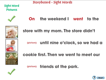 High Frequency Sight Words: Storyboard - Sight Words - MAC Gr. 5-8