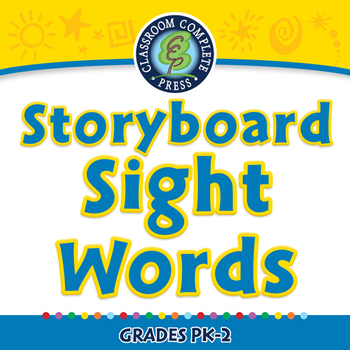 High Frequency Sight Words: Storyboard - Sight Words - NOTEBOOK Gr. 5-8