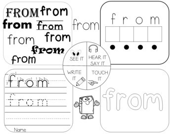 High Frequency Sight Words Worksheets FREE SAMPLE!!!