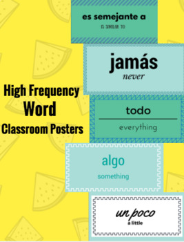 High Frequency Spanish Words Posters