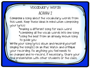 High-Frequency, Spelling & Vocabulary Word Project-based Learning & Enrichment