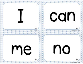High-Frequency Student Word Cards - LLI BLUE (2nd ed.)