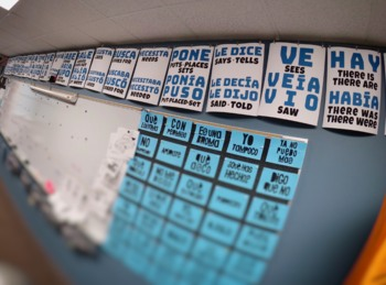 High Frequency Verb Posters: Present, Preterit, & Imperfect, Super 7 & Sweet 16