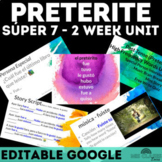 High Frequency Verbs Unit - Super 7 past tense (preterite)