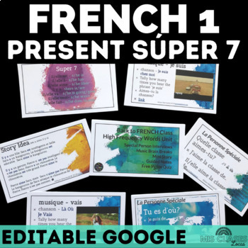 High Frequency Verbs Unit - Novice FRENCH
