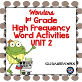 High Frequency Word Activities 1st Grade Wonders Unit 2