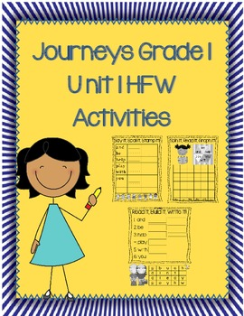 High Frequency Word Activities Journeys 1st Grade Unit 1 Lessons 1-5
