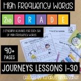 High Frequency Word Activities: Journeys 2nd Grade