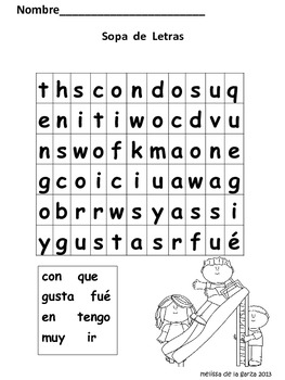 High Frequency Word Activities (Spanish)