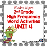 High Frequency Word Activities Wonders Grade 2 Unit 4